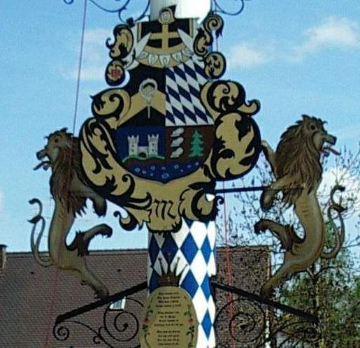 Maibaum-Wappen Karl Bacmair 1977